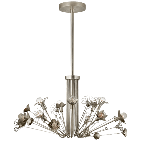 Keaton Large Bouquet Chandelier in Burnished Silver Leaf