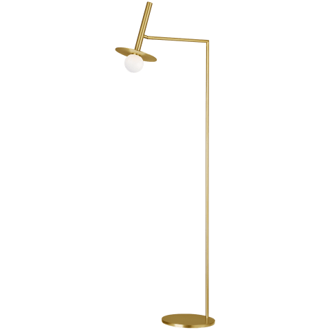 Nodes 1 - Light Floor Lamp Burnished Brass Bulbs Inc
