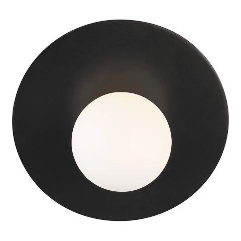 Nodes Large Angled Sconce Midnight Black