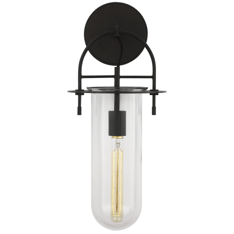 Nuance 1 - Light Short Wall Sconce Aged Iron