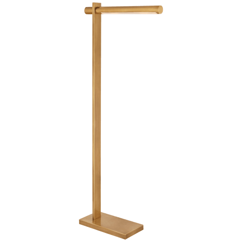 Axis Pharmacy Floor Lamp in Antique-Burnished Brass