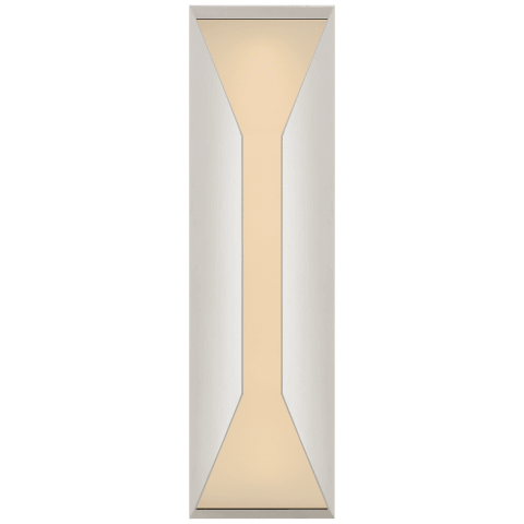 Stretto Medium Sconce in Polished Nickel with Frosted Glass