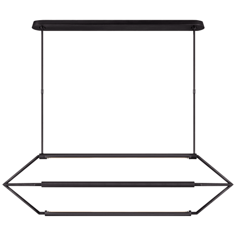 Appareil Large Linear Lantern in Bronze