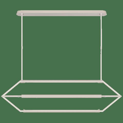 Appareil Large Linear Lantern in Polished Nickel