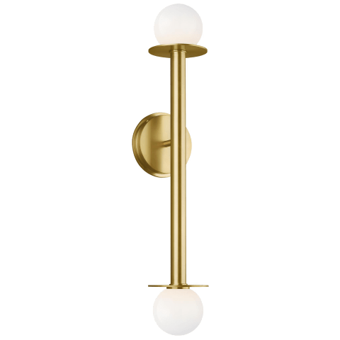 Nodes 2 - Light Wall Sconce Burnished Brass