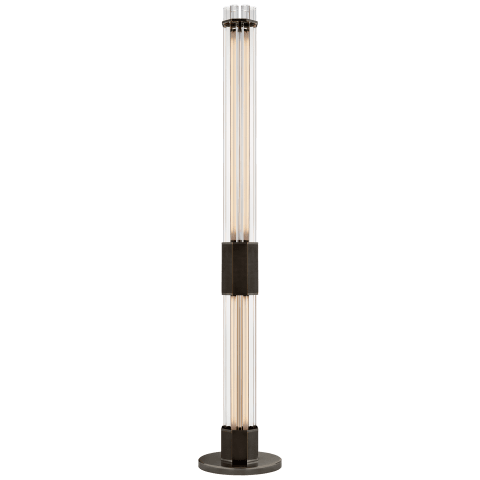 Fascio Large Floor Lamp in Bronze with Crystal