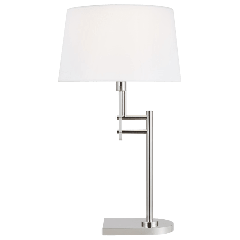 Jake Table Lamp Polished Nickel Bulbs Inc