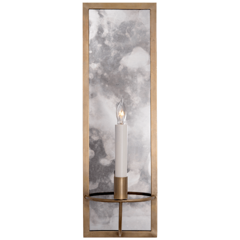 Regent Rectangular Sconce in Hand-Rubbed Antique Brass