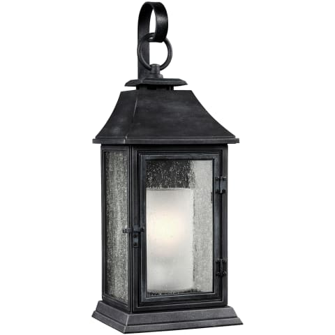 Shepherd Large Lantern Dark Weathered Zinc