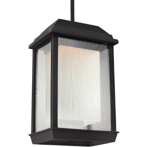 McHenry 1 - Light Outdoor LED Pendant Lantern Textured Black Bulbs Inc