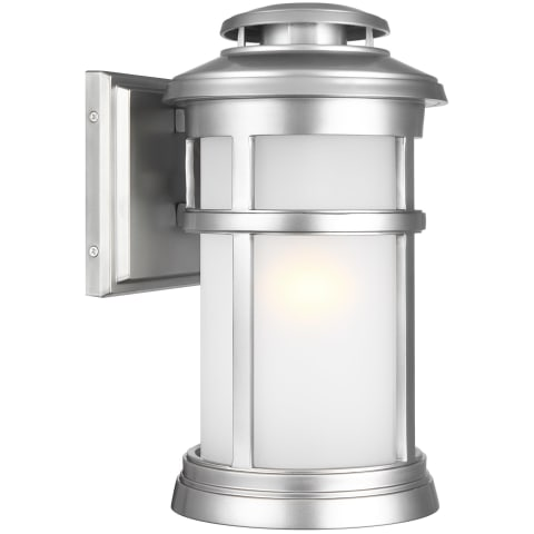 Newport Small Lantern Painted Brushed Steel