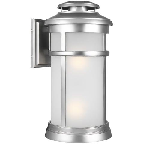 Newport Large Lantern Painted Brushed Steel