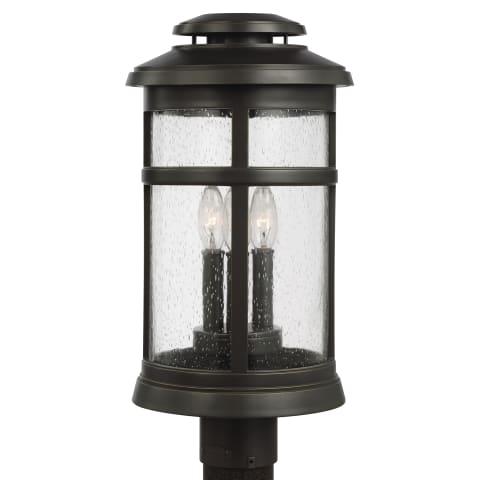 Newport 3 - Light Post Lantern Antique Bronze