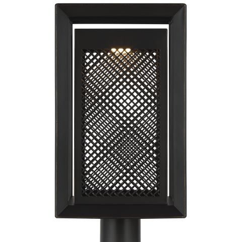 Milton LED Post Lantern Antique Bronze Bulbs Inc