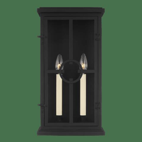 Belleville 2 - Light Outdoor Wall Lantern Textured Black