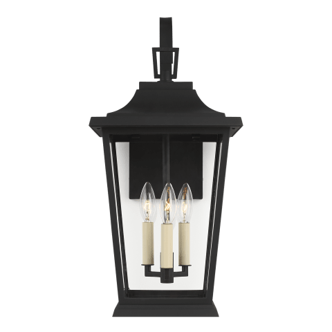 Warren Medium Lantern Textured Black