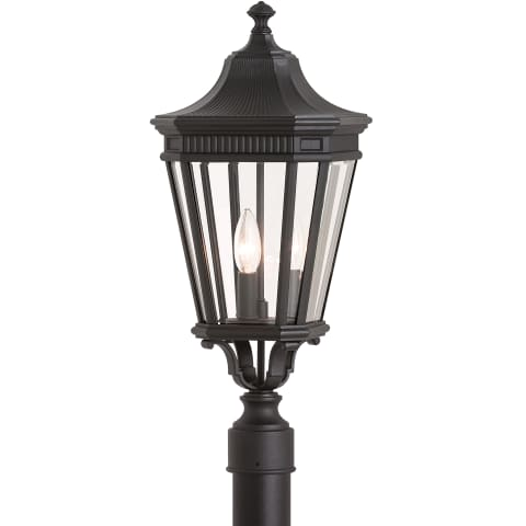 Cotswold Lane 3 - Light Post Black