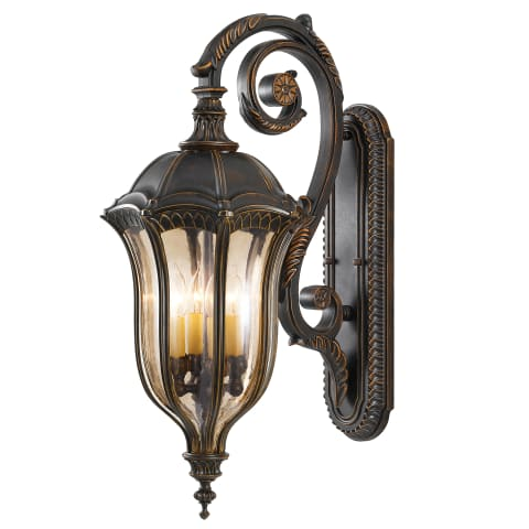 Baton Rouge 4 - Light Wall Lantern Walnut