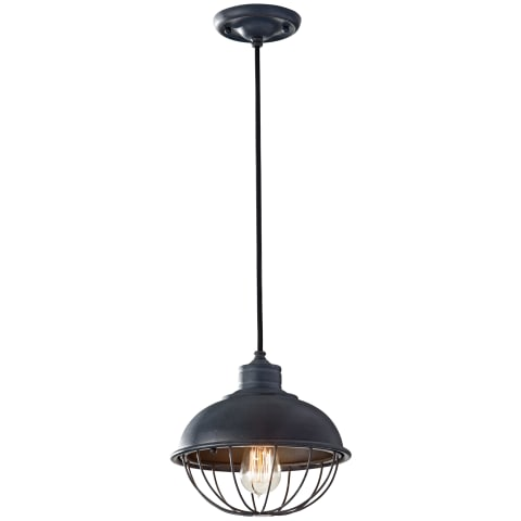Urban Renewal Round Cage Pendant Antique Forged Iron