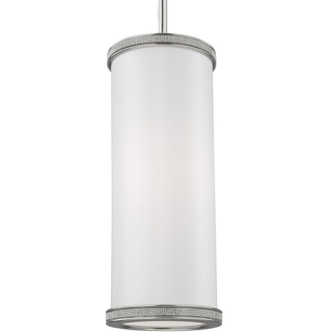Pave 1 - Light Crystal Inlay Mini-Pendant  Polished Nickel