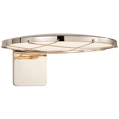 "Dot 13"" Caged Wall Light in Polished Nickel"