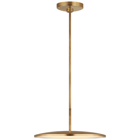 "Dot 16"" Pendant in Natural Brass"