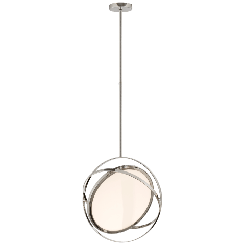 "Orbit 16"" Swiveling Pendant in Polished Nickel"