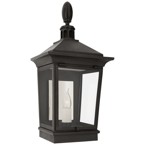 Rosedale Classic Petite 3/4 Wall Lantern in French Rust with Clear Glass