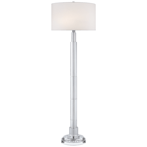 Briggs Floor Lamp in Crystal with Silk Shade