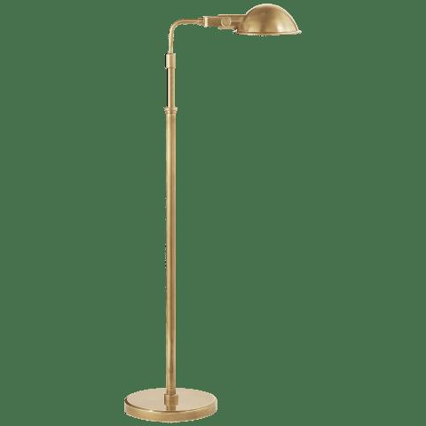 Fairfield Pharmacy Floor Lamp in Natural Brass
