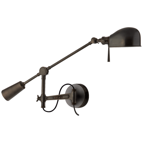 RL '67 Boom Arm Wall Lamp in Bronze