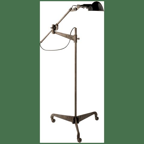 Freeman Floor Lamp in Industrial Steel