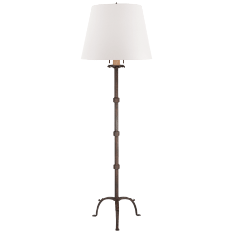 Robertson Floor Lamp in Natural Rust with White Paper Shade