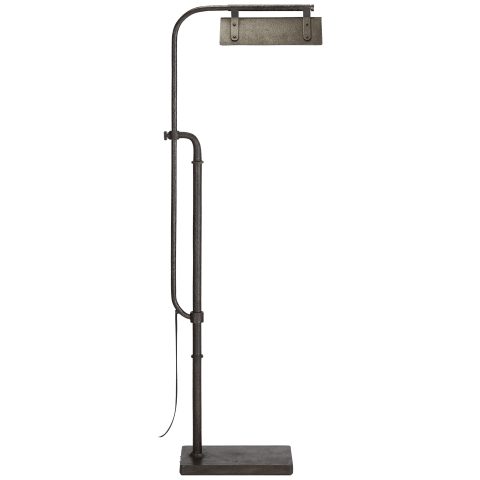Flint Pharmacy Floor Lamp in Aged Iron