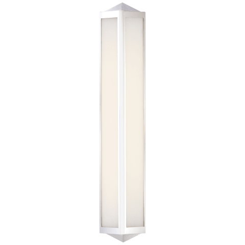Geneva Medium Sconce in Polished Nickel with White Glass