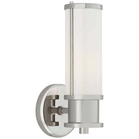 Lichfield Single Sconce in Polished Nickel