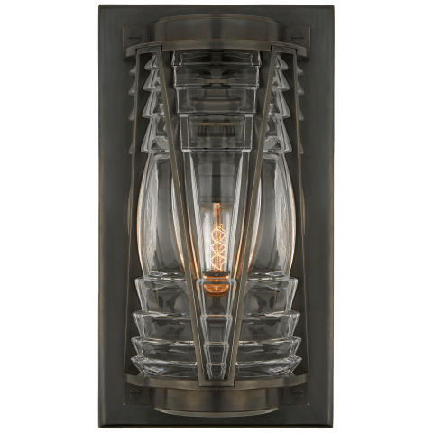 Chatham Medium Wall Lantern in Bronze with Clear Glass