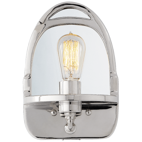 Westbury Mirrored Sconce in Polished Nickel