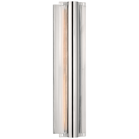 Daley Medium Linear Sconce in Polished Nickel with Crystal