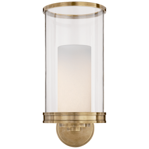 Modern Hurricane Sconce in Polished Nickel