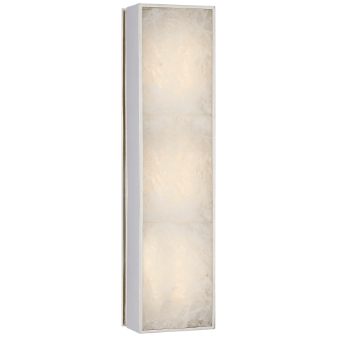Ellis Medium Linear Sconce in Polished Nickel and Natural Quartz