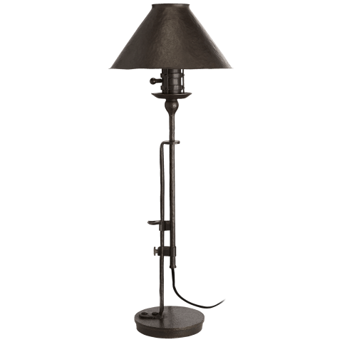 Naomi Table Lamp in Aged Iron