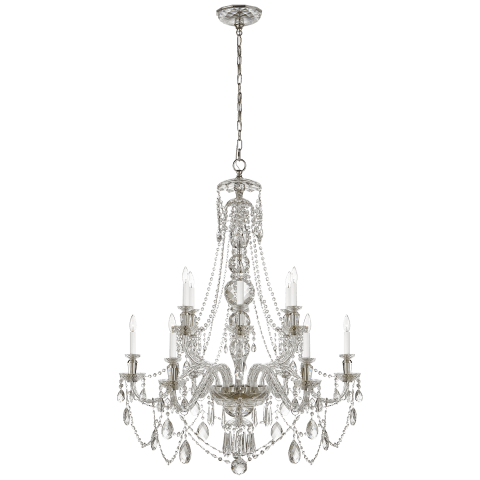 Daniela Medium Two-Tier Chandelier in Crystal