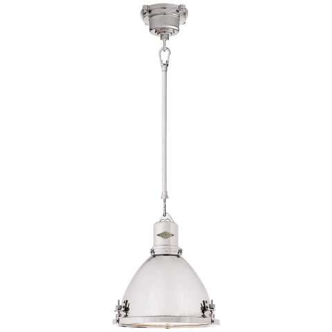 Fulton Small Pendant in Polished Nickel