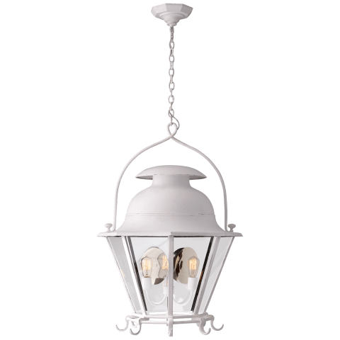 Cranbrook Large Lantern in White