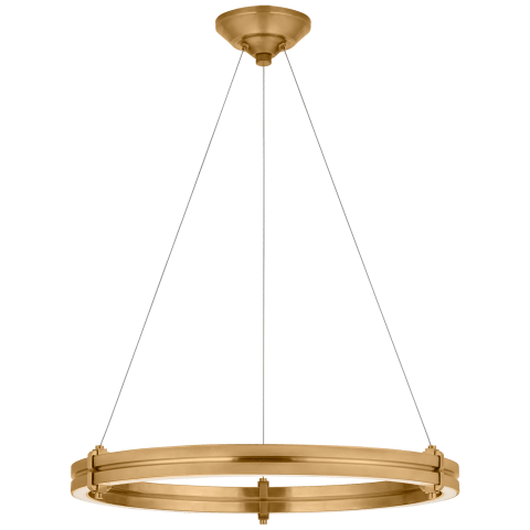"Paxton 24"" Ring Chandelier in Natural Brass"