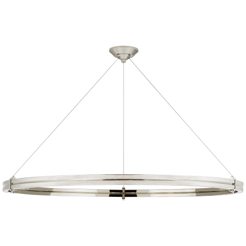 "Paxton 48"" Ring Chandelier in Polished Nickel"