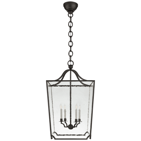 Beatrice Large Lantern in Aged Iron with Restoration Glass