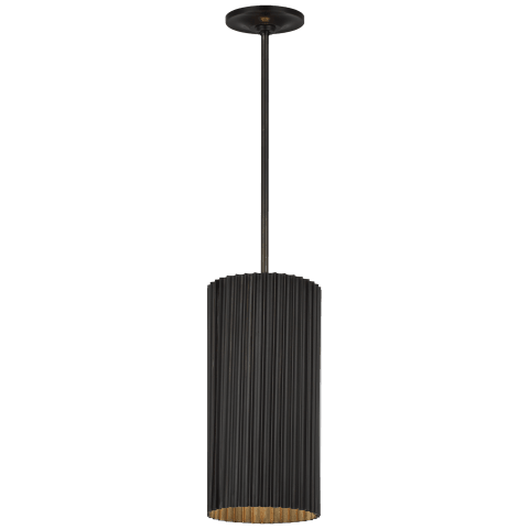 Rivers Small Fluted Pendant in Bronze