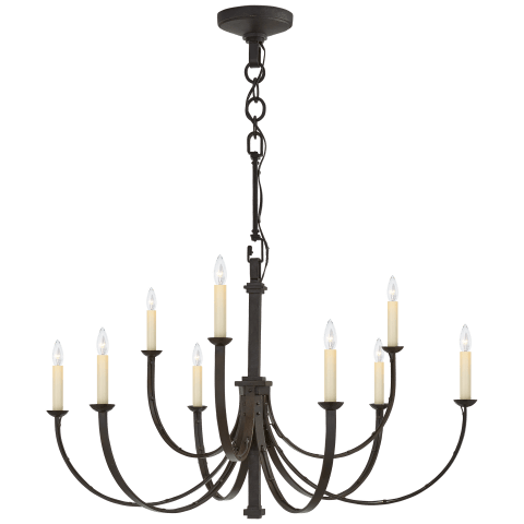 Reims Medium Chandelier in Aged Iron